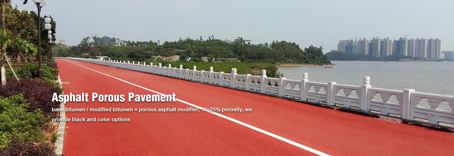 Black Asphalt Porous Pavement