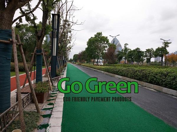 Go Green Cold Mix Colored Asphalt Project