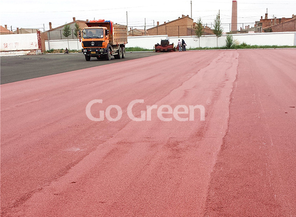 Latest color asphalt project in mongolia