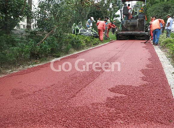 Red color asphalt project in kunshan