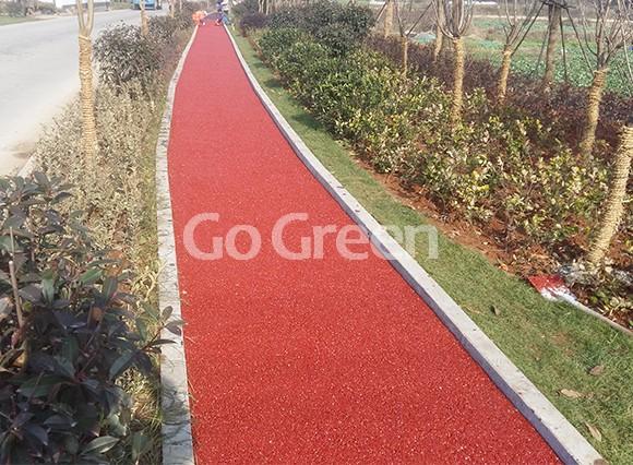 Cold mix color asphalt pavement applied in villa area