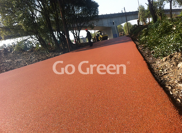Orange Hot Mix Colored Asphalt Project in Zhejiang