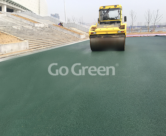 Yellow and Green Color Asphalt in Jiangsu Exhibition Hall