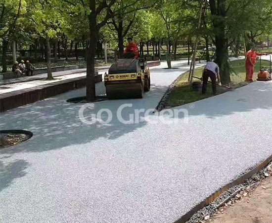 Color porous asphalt pavement greatly contribute to sponge city
