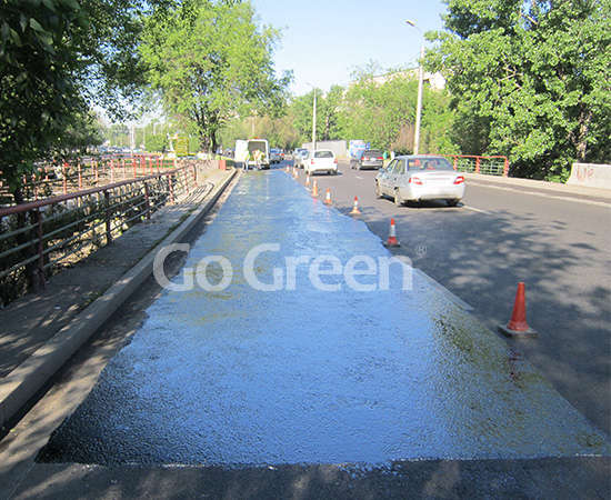 Asphalt pavement sealer project in Kazakhstan