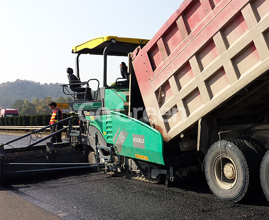 Micro paving Asphalt extensively used in expressway
