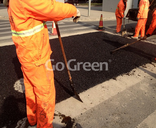 Go green cold asphalt for instant road repair