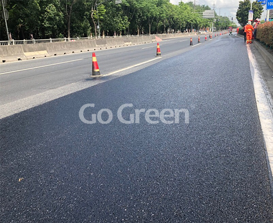 Go Green High Viscous Asphalt Sealer in Shanghai Highway Project Completed Successfully
