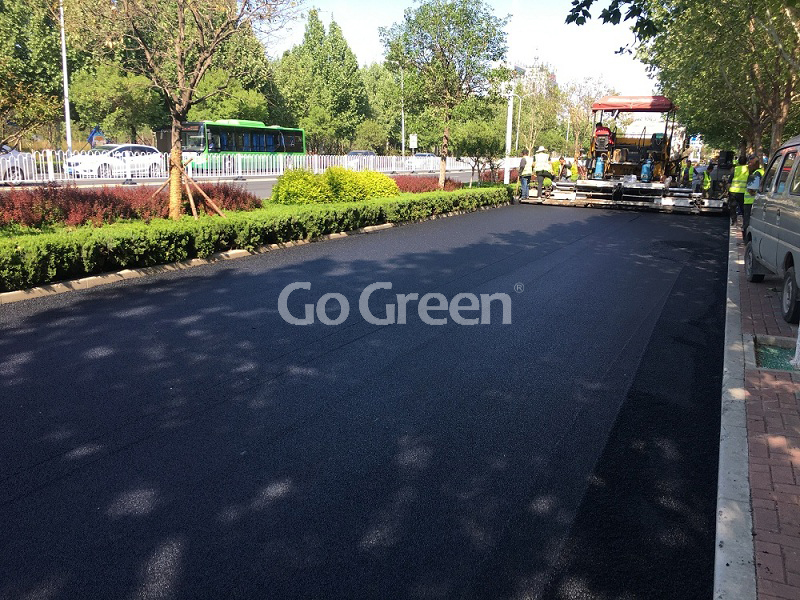 Go Green Micro Paving Asphalt Project in Hebei China