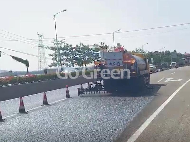 National Highway Asphalt Pavement Sealer Project Complete Successfully