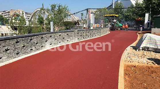Red Hot Mix Color Asphalt Project in Huangshi City