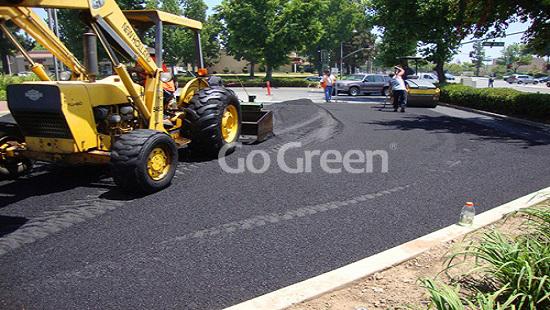 Cold asphalt patching project